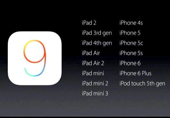 ios9 Compatible devices iapptweak