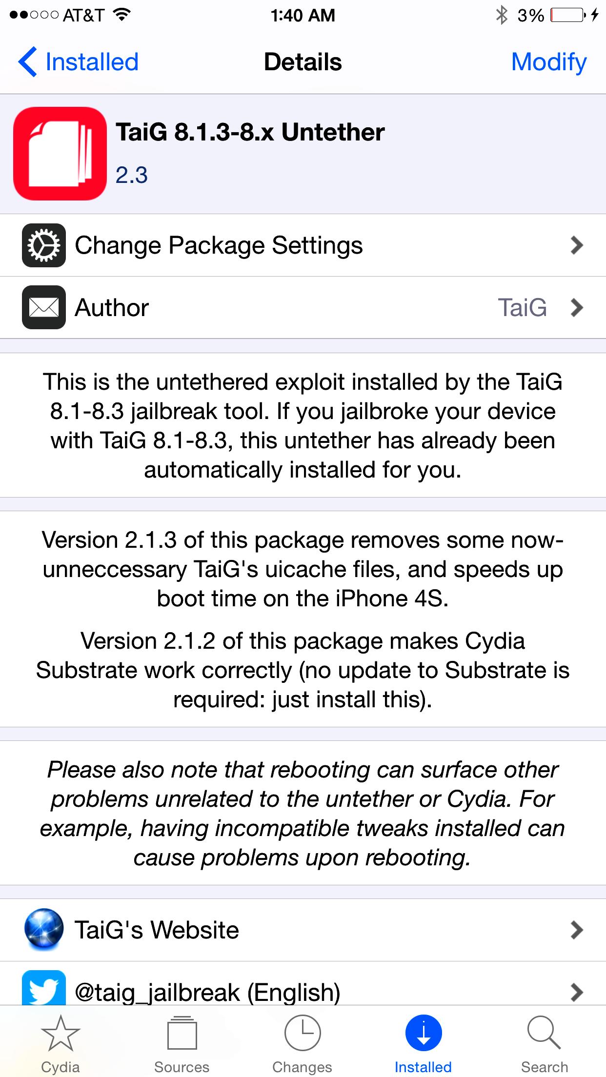 taig-2.3-on-Cydia-ios8.3-8.4-iapptweak