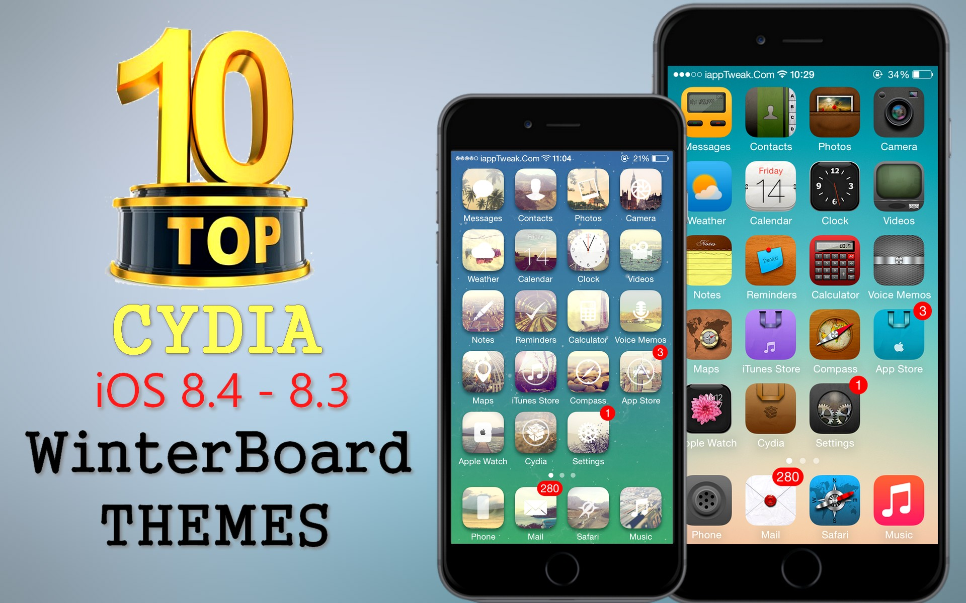 TOP 10 BRAND NEW Cydia WinterBoard Themes For iOS 8.4 / 8