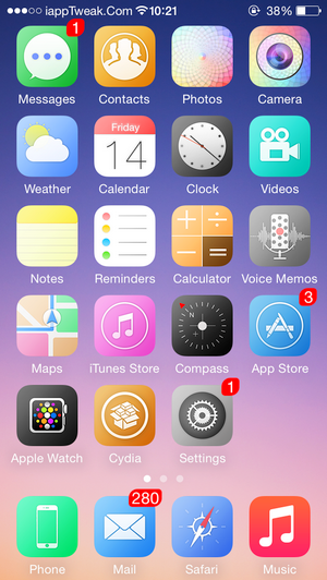 iSevenuos iOS 8-cydia-theme-ios8.4-8.3-iapptweak