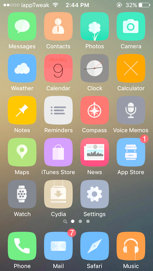 Amor-iOS9 cydia winterboard-anemone-theme-iapptweak