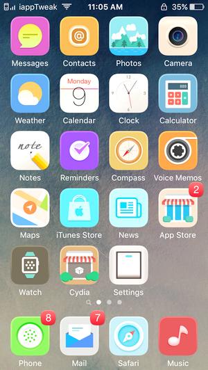 Laris for iOS9-iOS9 cydia winterboard-anemone-theme-iapptweak
