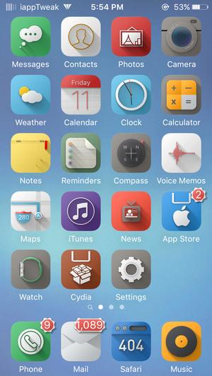 Flatish UI_Anemone_winterboard_iOS9_theme_iapptweak