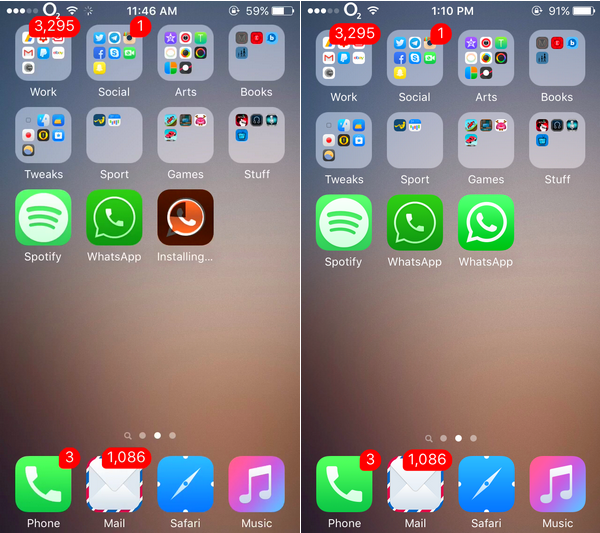 clone whatsapp on iOS 9 iPod_iapptweak