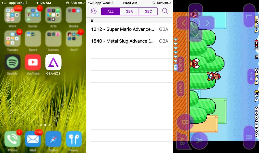 GBA4iOS iPhone Game Emulator iOS 9.2-iOS 9.3-iapptweak
