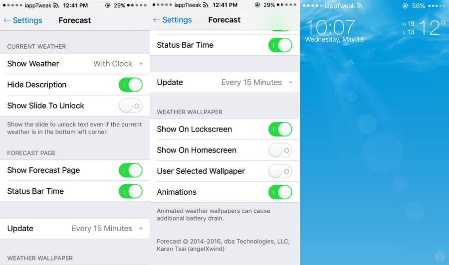 Forecast for iOS 7-8-9-settingsiapptweak-com