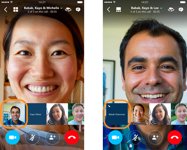 Skype for iOS gains connectivity status bar