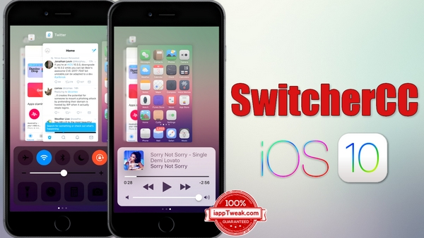 SwitcherCC Tweak Combines the App Switcher and Control Center interfaces
