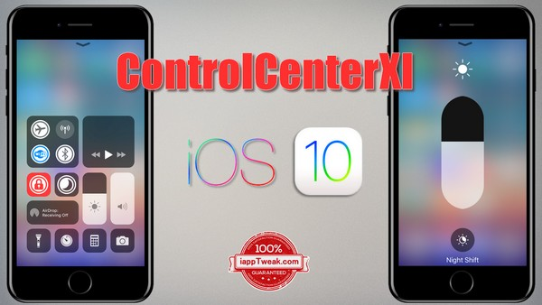 ControlCenterXI Tweak: Brings the iOS 11 Control Center to iOS 10, 9 & 8