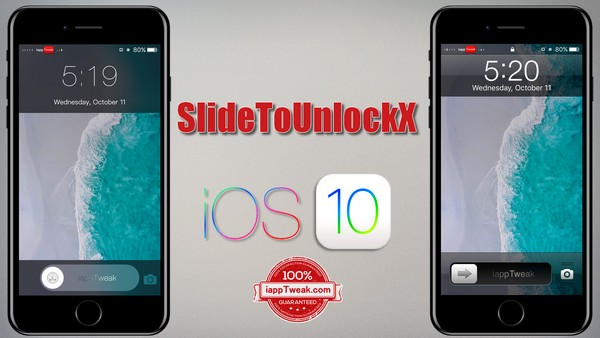 SlideToUnlockX Tweak Brings The Classic 'Slide To Unlock' To iOS 10