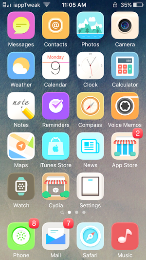 Laris for iOS9-iOS9 cydia winterboard-anemone-theme-iapptweak