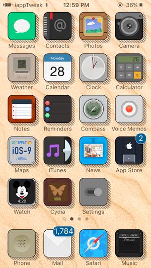 Virtual Flat Theme-iOS9.3-jailbreak-top-themes-iapptweak