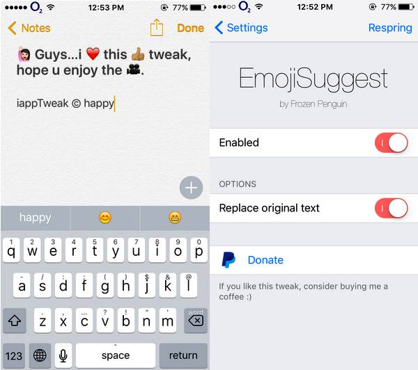 emojisuggest-tweak-ios-9-3-3-cydia-settings-iapptweak