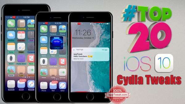TOP 20 Brand New Tweaks For iOS 9/iOS 10.2 Jailbreak – Part 5