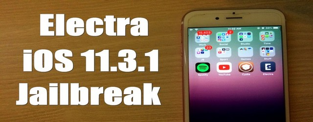 How to jailbreak iOS 11.2-11.3.1 with Electra Tool